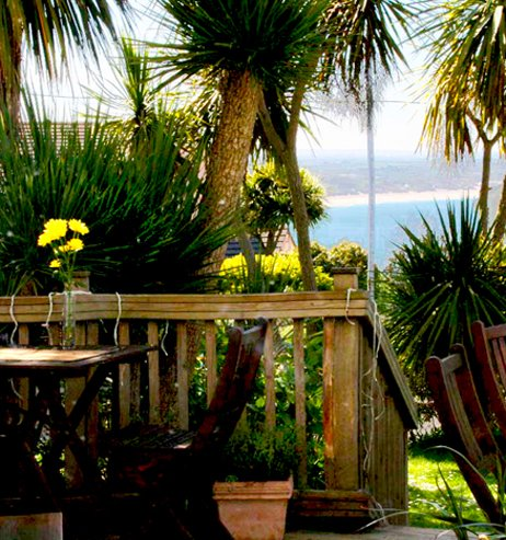 Decking sea coast