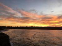 chalet beach sunset